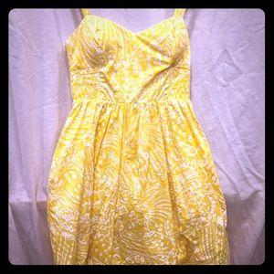Lilly Pulitzer short yellow dress
